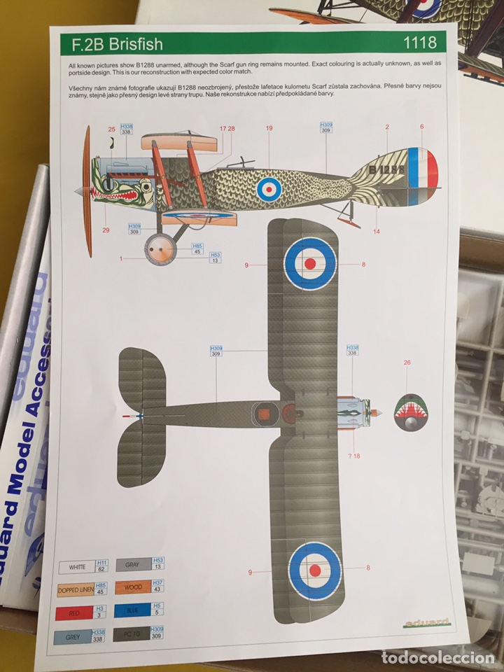 """Maquetas: BRISTOL FIGHTER F2B """"BRISFISH"""" (Edición con figuras) 1:48 EDUARD 1118 maqueta avión edición limitada - Foto 6 - 206339342"""