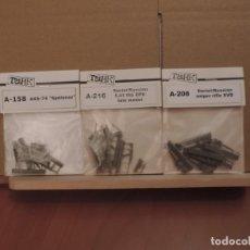 Maquetas: LOTE DE ARMAS EN RESINA DE LA MARCA TANK, AKS-74, RIFLE SVD, RPK 1/35 (RESINA). Lote 206344905