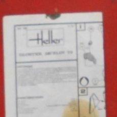 Maquetas: INSTRUCCIONES DE MONTAJE DEL GLOSTER JAVELIN DE HELLER. ESCALA 1/72. Lote 206761175