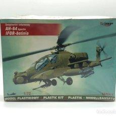 Maquetas: AH-64 APACHE IFOR-BOSNIA HELICOPTERO AMERICANO MIRAGE HOBBY. Lote 206924586