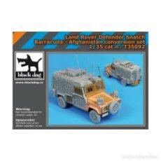 Maquetas: CONVERSION LAND ROVER DEFENDER SNATCH BARRACUDA-AFGANISTAN 1:35 BLACK-DOG T35092. Lote 206950251