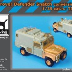 Maquetas: CONVERSION LANDROVER DEFENDER SNATCH 1:35 BLACK-DOG T35086. Lote 206950342