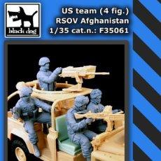 Maquetas: US TEAM RSOV (4 FIG) AFGANISTAN 1:35 BLACK DOG F35061. Lote 207043621
