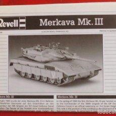 Maquetas: INSTRUCCIONES DE MONTAJE DEL MERKAVA MK.III DE REVELL ESCALA 1/72. Lote 207065731