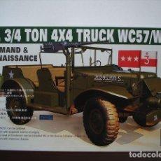 Maquetas: U.S. 3/4 TON 4X4 TRUCK WC57/WC56 COMMAND & RECONNAISSANCE 1:35 AFV CLUB AF35S16. Lote 207146611