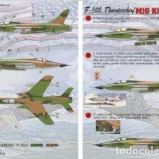 Maquetas: CALCAS F-105 THUNDERCHIEF MIG KILL 1:32 PRINT SCALE 32-009. Lote 207189283