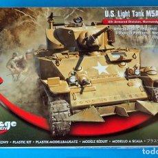 Maquetas: MAQUETA CARRO MIRAGE HOBBY: U.S. LIGHT TANK M5A1 1/72, Nº 726088. MADE IN POLAND. Lote 207203708