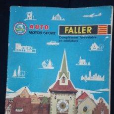 Maquetas: CATALOGO FALLER 1965/66 AUTO MOTOR SPORT COMPLÉMENT FERROVIAIRE EN MINIATURE. Lote 207531081
