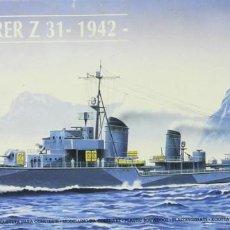 Maquetas: MAQUETA BARCO ZERSTORER Z-31, 1942, REF. 81010, 1/400, HELLER. Lote 227277050