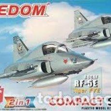 Maquetas: FREEDOM - ROCAF F-5E TIGER II / ROCAF RF-5E TIGER EYE 2 EN 1 COMPACT SERIES 162003. Lote 208898605