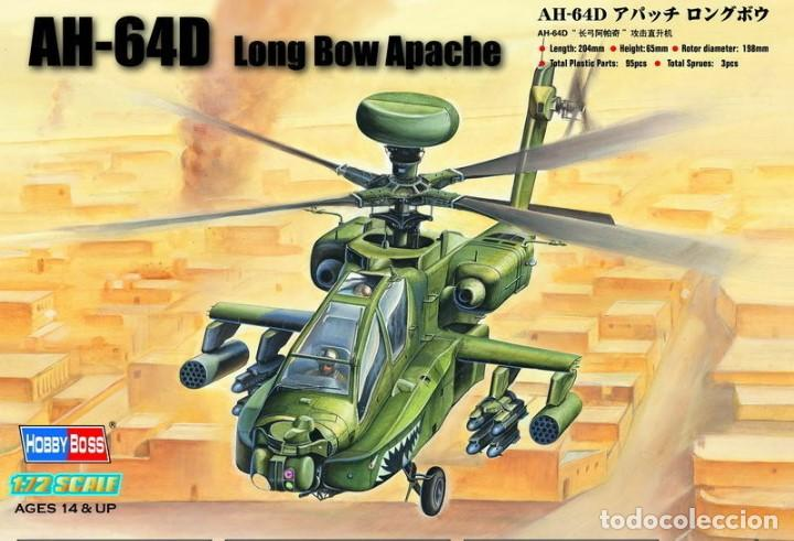 """87219 HOBBYBOSS 1/72 AH-64D """"LONG BOW APACHE"""" (Juguetes - Modelismo y Radio Control - Maquetas - Aviones y Helicópteros)"""