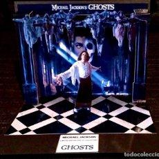 Maquetas: DIORAMA MICHAEL JACKSON GHOSTS - POP UP CD DISPLAY - EDICION LIMITADA MAQUETA PLEGABLE EN PAPEL. Lote 209069288