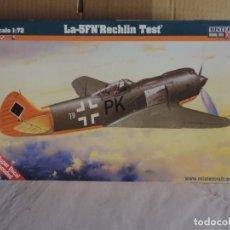 Maquetas: MAQUETA - MISTERCRAFT D-247 LA-5 FN RECHLIN TEST 1/72. Lote 209208815