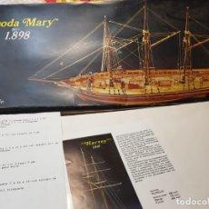Maquettes: MAQUETA BARCO RHODA MARY 1898 DE 3 MÁSTILES ESCALA 1:60. Lote 210319715