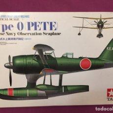 Maquetas: MITSUBISHI F1M2 TYPE ZERO OBSERVATION SEAPLANE (PETE) 1:48 TAMIYA MAQUETA AVIÓN HIDROAVION JAPÓN. Lote 210653799