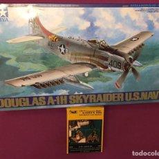 Maquetas: DOUGLAS A-1H SKYRAIDER U.S. NAVY CON COCKPIT Y MECÁNICA EN RESINA 1:48 TAMIYA 61058 CMK 4018 MAQUETA. Lote 210654384