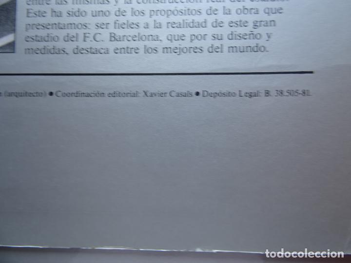 Maquetas: estadio fc barcelona nou camp maqueta troquelada sede del mundial 82 ediciones minos 1981 - Foto 4 - 210672354