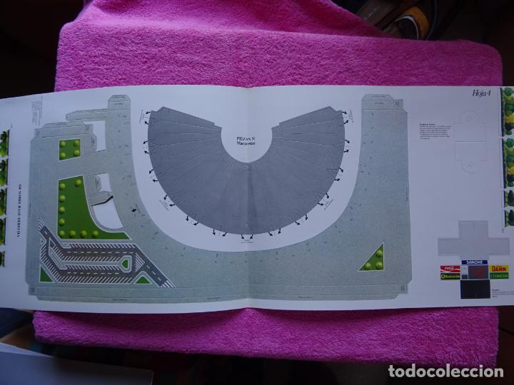 Maquetas: estadio fc barcelona nou camp maqueta troquelada sede del mundial 82 ediciones minos 1981 - Foto 11 - 210672354