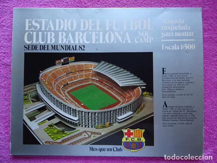 ESTADIO FC BARCELONA NOU CAMP MAQUETA TROQUELADA SEDE DEL MUNDIAL 82 EDICIONES MINOS 1981 (Juguetes - Modelismo y Radiocontrol - Maquetas - Construcciones)