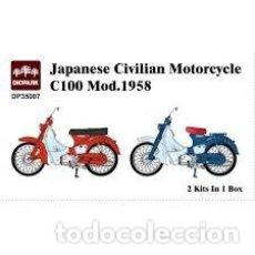 Maquetas: DIOPARK - JAPANESE CIVILIAN MOTORCYCLE C100 MOD.1958 1/35 35007 2 KITS EN LA CAJA. Lote 236458210