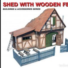 Maquetas: SHED WITH WOODEN FENCE. MINIART. 1/35. Lote 211401946