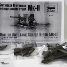 Maquetas: MAQUETA ZVEZDA BRITISH ANTI-TANK GUN QF 6PDR MK-II ESCALA 1/35. Lote 211559949