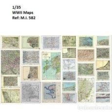 Maquetas: WWII MAPAS 1/35 ACCESORIOS DIORAMA. Lote 211801422