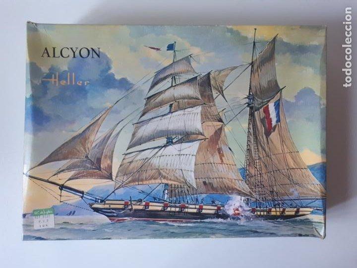 MAQUETA BARCO FRANCÉS ALCYON DE HELLER ESCALA 1 /150 REF. L797 ANTIGUA SIN MONTAR (Juguetes - Modelismo y Radiocontrol - Maquetas - Barcos)