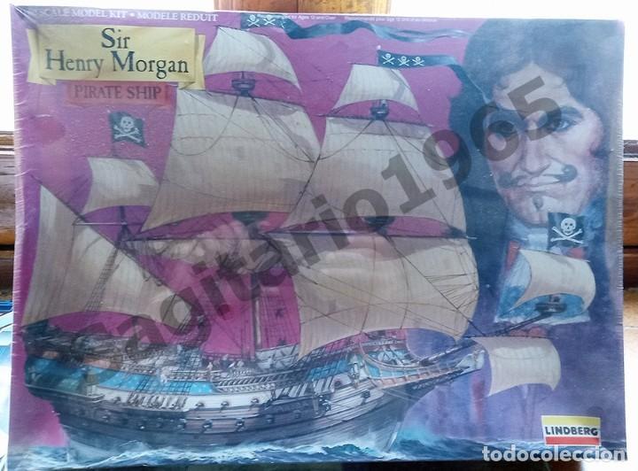 1994 LINDBERG ESC 1/160 PLASTIC SIR HENRY MORGAN PIRATA SHIP / BARCO (Juguetes - Modelismo y Radiocontrol - Maquetas - Barcos)