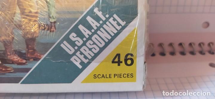 Maquetas: U. S. A. A. F / R. A. F. Personnel de airfix. Lote de dos cajas completas y sin usar. Años 70 - Foto 7 - 212935305