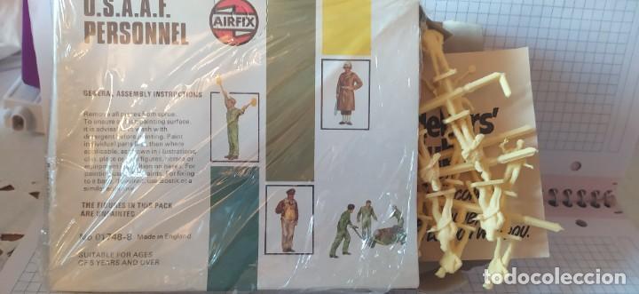 Maquetas: U. S. A. A. F / R. A. F. Personnel de airfix. Lote de dos cajas completas y sin usar. Años 70 - Foto 9 - 212935305