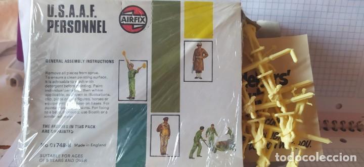 Maquetas: U. S. A. A. F / R. A. F. Personnel de airfix. Lote de dos cajas completas y sin usar. Años 70 - Foto 12 - 212935305