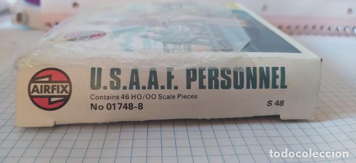 Maquetas: U. S. A. A. F / R. A. F. Personnel de airfix. Lote de dos cajas completas y sin usar. Años 70 - Foto 13 - 212935305
