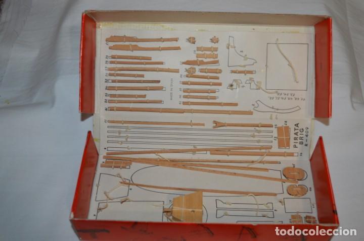 Maquetas: CONSTRUCTO / Pirate - Brig R-409 / Antigua maqueta descatalogada - Made In Spain ¡Muy difícil, mira! - Foto 3 - 212969686