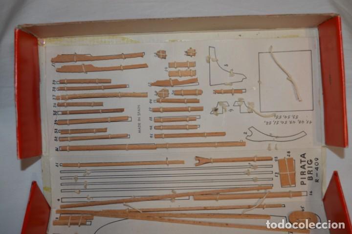 Maquetas: CONSTRUCTO / Pirate - Brig R-409 / Antigua maqueta descatalogada - Made In Spain ¡Muy difícil, mira! - Foto 4 - 212969686