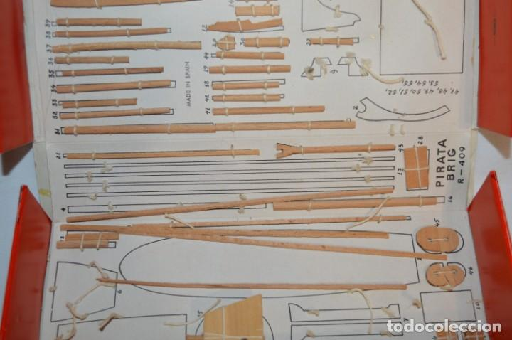 Maquetas: CONSTRUCTO / Pirate - Brig R-409 / Antigua maqueta descatalogada - Made In Spain ¡Muy difícil, mira! - Foto 5 - 212969686