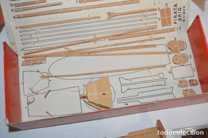 Maquetas: CONSTRUCTO / Pirate - Brig R-409 / Antigua maqueta descatalogada - Made In Spain ¡Muy difícil, mira! - Foto 6 - 212969686