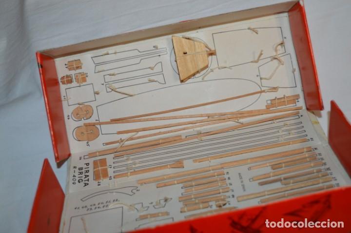 Maquetas: CONSTRUCTO / Pirate - Brig R-409 / Antigua maqueta descatalogada - Made In Spain ¡Muy difícil, mira! - Foto 7 - 212969686