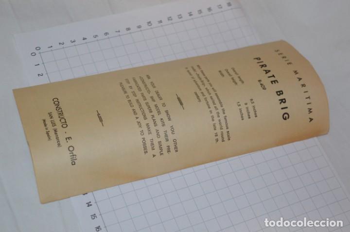 Maquetas: CONSTRUCTO / Pirate - Brig R-409 / Antigua maqueta descatalogada - Made In Spain ¡Muy difícil, mira! - Foto 16 - 212969686