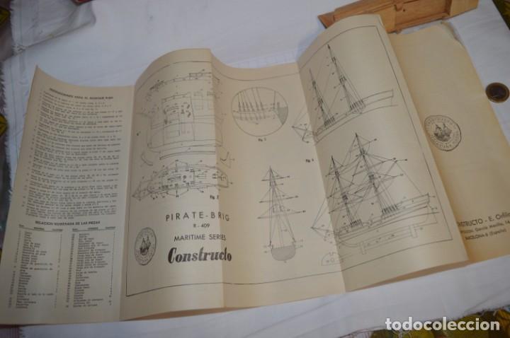 Maquetas: CONSTRUCTO / Pirate - Brig R-409 / Antigua maqueta descatalogada - Made In Spain ¡Muy difícil, mira! - Foto 17 - 212969686