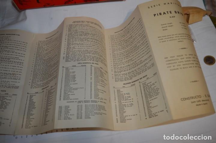 Maquetas: CONSTRUCTO / Pirate - Brig R-409 / Antigua maqueta descatalogada - Made In Spain ¡Muy difícil, mira! - Foto 18 - 212969686