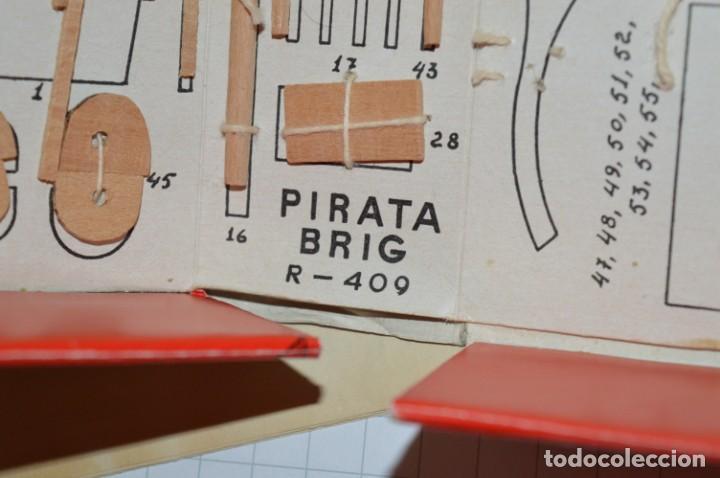 Maquetas: CONSTRUCTO / Pirate - Brig R-409 / Antigua maqueta descatalogada - Made In Spain ¡Muy difícil, mira! - Foto 20 - 212969686