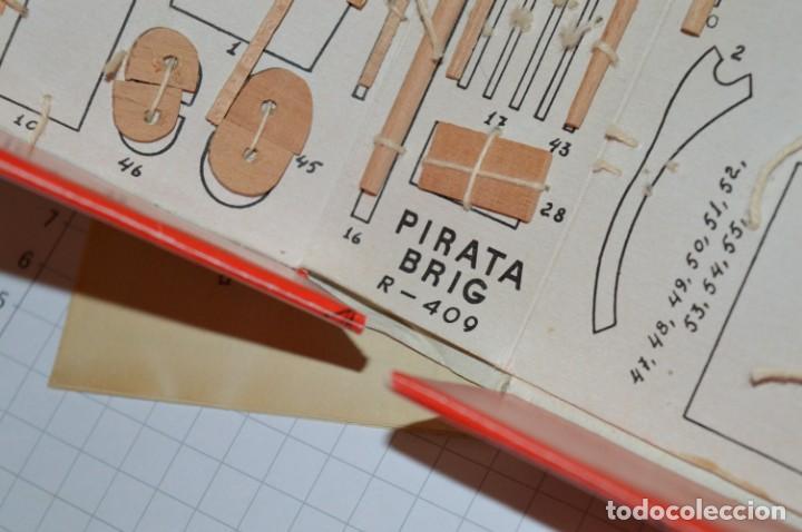 Maquetas: CONSTRUCTO / Pirate - Brig R-409 / Antigua maqueta descatalogada - Made In Spain ¡Muy difícil, mira! - Foto 21 - 212969686