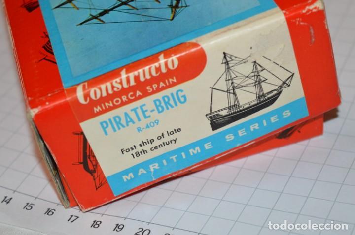 Maquetas: CONSTRUCTO / Pirate - Brig R-409 / Antigua maqueta descatalogada - Made In Spain ¡Muy difícil, mira! - Foto 24 - 212969686