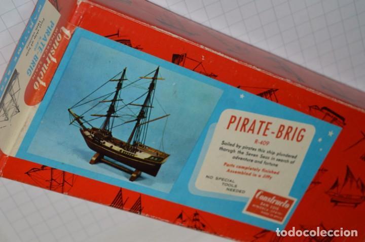 Maquetas: CONSTRUCTO / Pirate - Brig R-409 / Antigua maqueta descatalogada - Made In Spain ¡Muy difícil, mira! - Foto 25 - 212969686