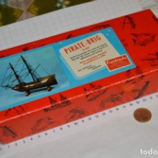 Maquetas: CONSTRUCTO / PIRATE - BRIG R-409 / ANTIGUA MAQUETA DESCATALOGADA - MADE IN SPAIN ¡MUY DIFÍCIL, MIRA!. Lote 212969686