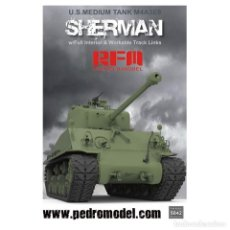 Maquetas: RYE FIELD MINIATURES 3542 # 1:35 M4A3 76W HVSS SHERMAN WITH FULL INTERIOR & WORKABLE TRACK LINKS. Lote 213065051
