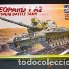 Maquettes: ITALERI - LEOPARD 1 A2 MEDIUM BATTLE TANK 1/35 374. Lote 213367981