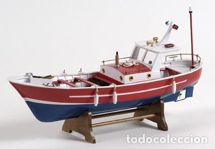 DE GRAN TAMAÑO, MAQUETA MUY ELABORADA DE UN BARCO A MOTOR , EN MADERA. A ESTRENAR (Juguetes - Modelismo y Radiocontrol - Maquetas - Barcos)
