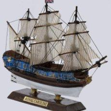 Maquetas: MAQUETA MONTADA DEL YATE REAL BRITÁNICO HMY ROYAL CAROLINE, 1749. A ESTRENAR.. Lote 213467852